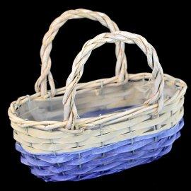 Osłonka - koszyk wiklinowy  na kwiaty dekoracja