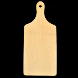 Drewniana deska. Wymiary: 11,5 x 26 cm Grubość: 1,5 cm +/- 0,5 cm