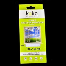 Siatka przeciw owadom 130x150 cm do okna