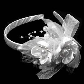 Opaska ze stroikiem biała