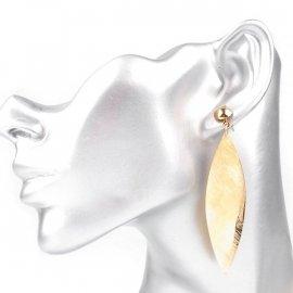 Kolczyki metalowe piórko srebrne lub złote