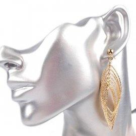 Kolczyki metalowe krople złote lub srebrne