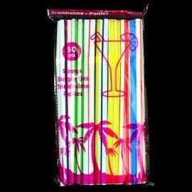 Słomki 21 cm do napojów 0,7 kolorowe 50 szt.