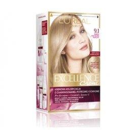 9.1 Bardzo jasny blond popielaty Kremowa koloryzacja Excellence Loreal