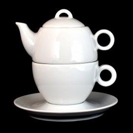 Komplet herbaciany 3 cz Bola Biały Lubiana