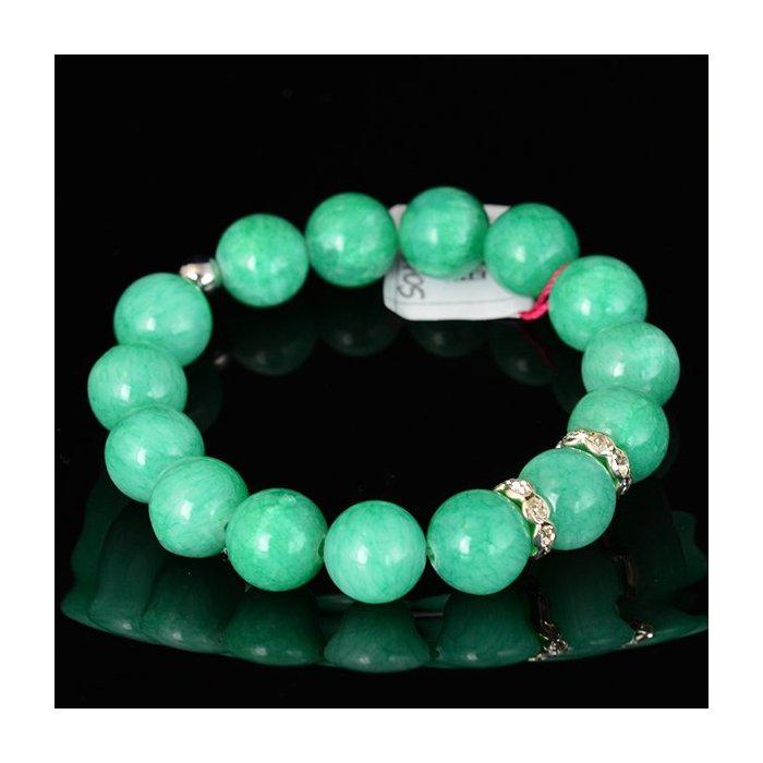 Bransoletka 12 Jadeit zielona