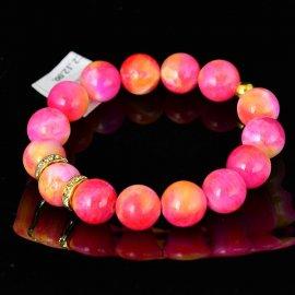 Bransoletka 12 Jadeit różowa