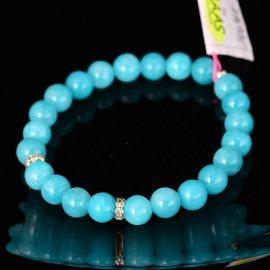 Bransoletka 8 Jadeit niebieski