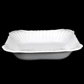 Salaterka kwadratowa 28cm Biała Iwona Chodzież III