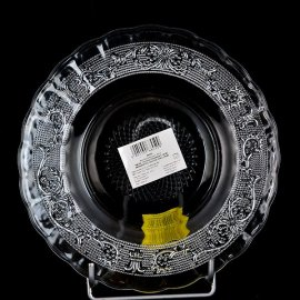 Talerz płytki deserowy szklany 18 cm Crystal Kim Glass