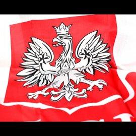 Polska flaga 60x90 z Godłem