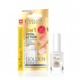 Odżywka do paznokci z drobinkami złota 8w1 Total Action Eveline