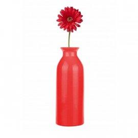 Wazon butelka 25cm czerwony Glasmark