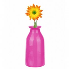 Wazon butelka 18cm różowy Glasmark