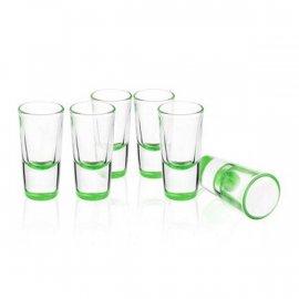 Kieliszki 6 szt. Lufa 25ml Kolorowy Spód Zielony Glasmark