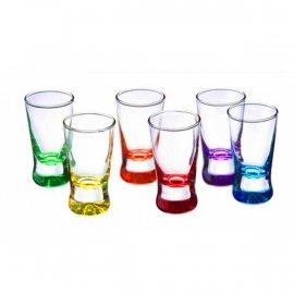 Kieliszki 6 szt. X 25ml Kolorowy Spód Mix Glasmark