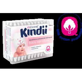 Bawełniane patyczki dla niemowląt sensitive Kindii Cleanic 60