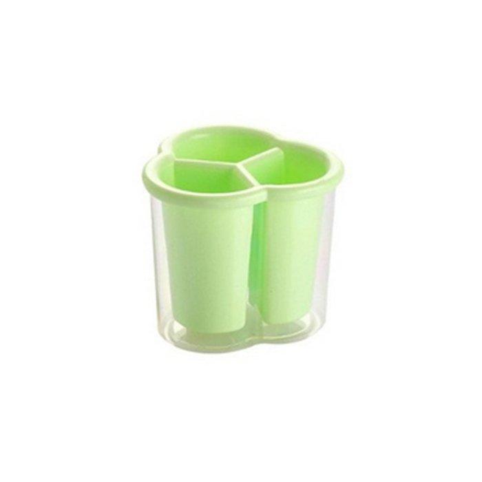 Ociekacz 3-komorowy na sztućce zielony Confetti Tadar