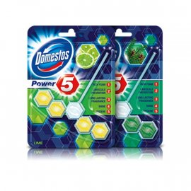 Kostka toaletowa Domestos Power 5 z Lime 55