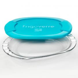 Pojemnik półmisek na żywność szklany 27x20 Frigoverre