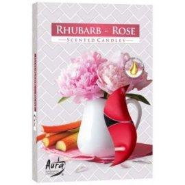 Podgrzewacz zapachowy Róża - Rabarbar Tealight 6szt Bispol