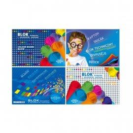 Blok techniczny A5 z kolorowymi kartkami 170g/25 kartek