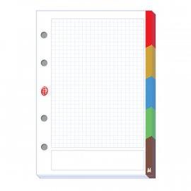 Wkład do segregatora z registrami A4 50 kartek kratka