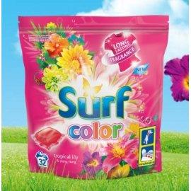 Kapsułki do prania kolor 32szt. Surf tropikalna lilii i ylang ylang