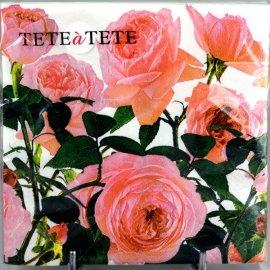 Serwetki 20szt kwiaty Róże TETEaTETE