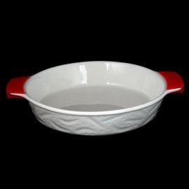Naczynie do zapiekania okrągłe z silikonowymi rączkami 27cm
