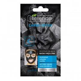 CARBO DETOX Oczyszczająca maska węglowa do cery suchej i wrażliwej Bielenda