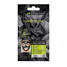 CARBO DETOX Oczyszczająca maska węglowa do cery mieszanej i tłustej Bielenda