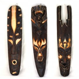 Maska afrykańska drewniana 50 cm