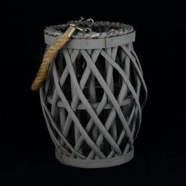 Latarnia szara wisząca/stojąca Kesi 21x14cm lampion