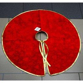 Dywanik świąteczny pod choinkę czerwony 78cm/11cm