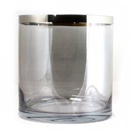 Wazon szklany srebrny pasek 20 x 21