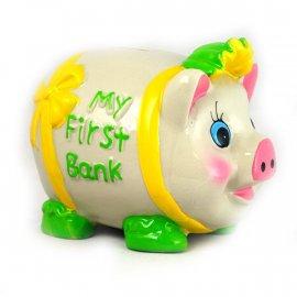 Skarbonka Świnka Pierwszy Bank 14x11x10,5