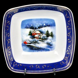 Salaterka 18 Victoria Zimowy pejzaż dek 4327 Lubiana