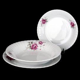 Kpl. talerzy obiadowych Iwona z różą B444 6/18 Chodzież