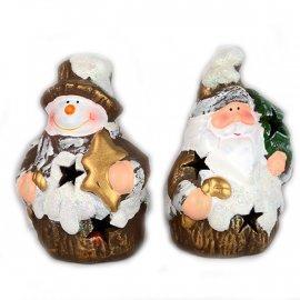 Figurka LED Mikołaj lub Bałwanek 10 cm