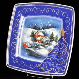 Talerz na ciasto 32 Victoria 4327 Pejzaż zimowy Lubiana