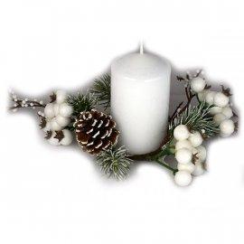 Wianek dekoracyjny świąteczny szyszki 7cm