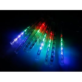 Lampki Choinkowe 8 Sopli Multikolor Led