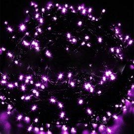 Lampki choinkowe 100 LED Fioletowe