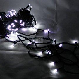 Lampki choinkowe 100 LED Białe zimna biel