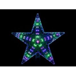 Gwiazda na czubek choinki 24 cm