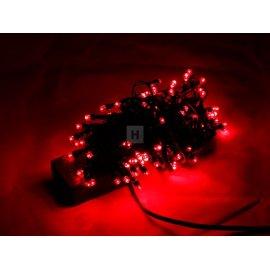 Lampki choinkowe 100 LED Czerwone stałe