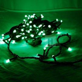 Lampki choinkowe 100 LED Zielone stałe