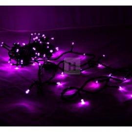 Lampki choinkowe 100 LED Fioletowe stałe