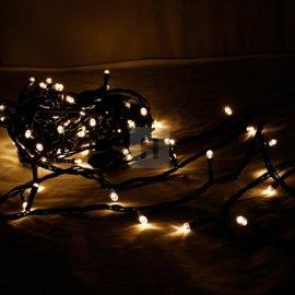 Lampki choinkowe 100 LED Ciepła Biel stałe